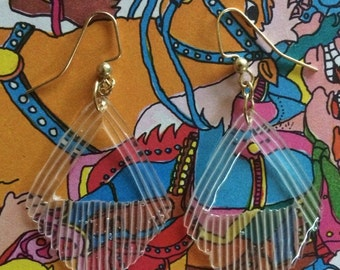 Simple earrings, Minimalist earrings, resin earrings, geometric earrings, lightweight earrings, art deco earrings