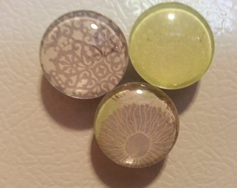 3 Glass Domed Magnets