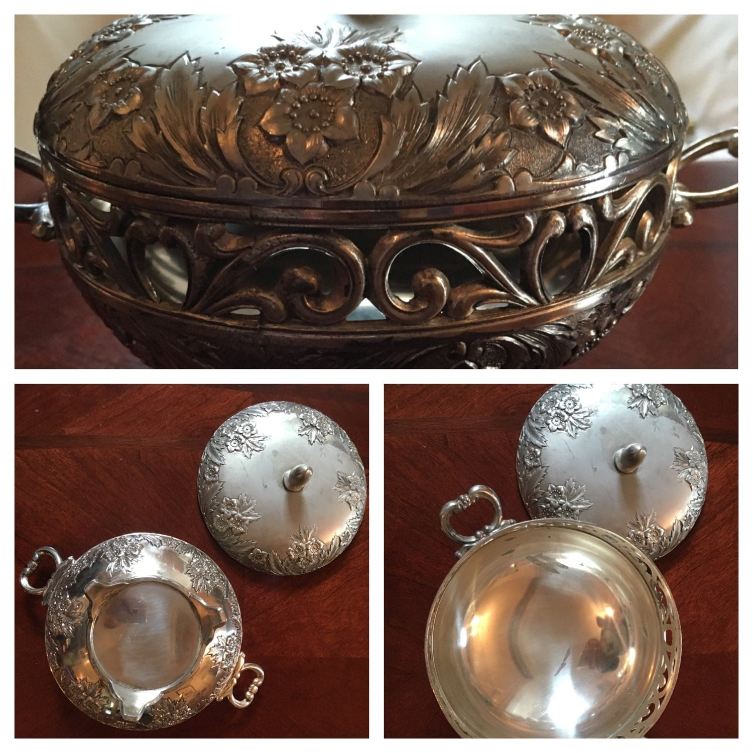 Vintage Potpourri Holder Vintage Coffee Table Decor Silver