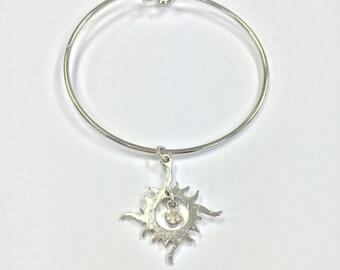 Gem in Sun Charm Bracelet