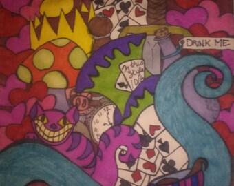 Wonderland Drawstring Tote Bag
