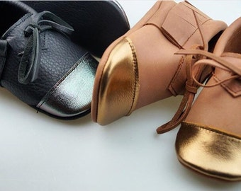 Baby and Toddler Metallic-Toed Moccasins