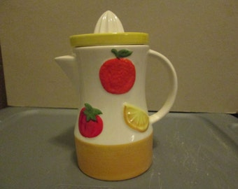 Awesome Vintage Juice Pitcher; Vintage Japanese Pitcher and Juice Reamer