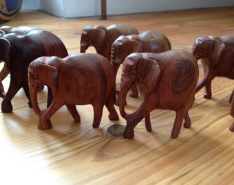 Hand Carved Wooden Elephant