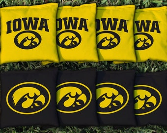Iowa Hawkeyes Cornhole Bag Set