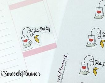 Tea Party and Tea Addict Planner Stickers | Erin Condren Planner | #001