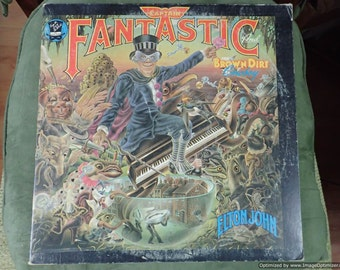 Elton John Captain fantastic and the brown dirt cowboy Vintage Vinyl Record