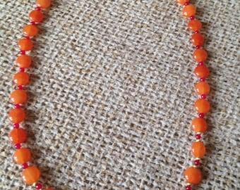 Orange Jade Necklace