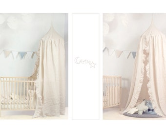 handmade linen canopy for babies kids play decor rest