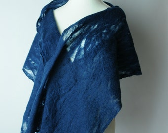 Dark Blue cobweb scarf
