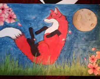 Framed fox print