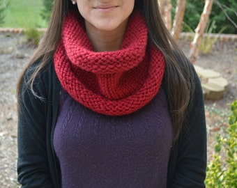 Knit Chunky Cowl Scarf