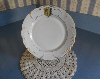 White Plate with LEIPZIG Crest