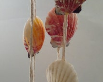 Handcrafted Double sided Seashell Wind Chime. Beautiful and one of a kind!