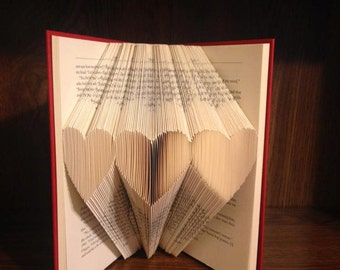3 Hearts Folded Book - Valentine's day - Love - Gift for him - Gift for her - Birthday - Mother's day - Wedding - Anniversary -