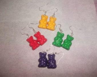 Teddy bear in fimo earrings
