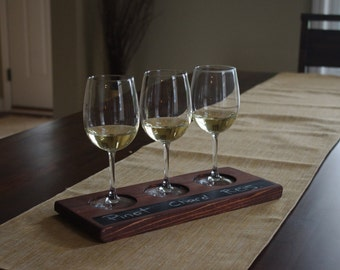 Rustic wine flight tray
