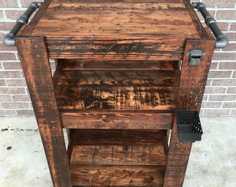 SHOP SALE! Industrial Bar Cart
