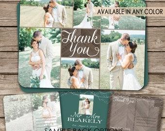 Rustic Wedding Thank You Postcard - printable card