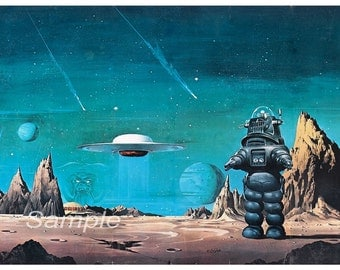 Vintage Forbidden Planet Movie Poster Print