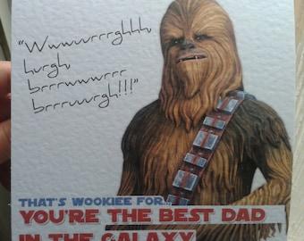 Chewie Star Wars Father's Day Card - Chewbacca