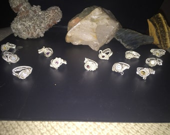 Sterling silver Wire wrap rings