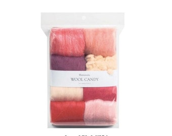 Japanese Wool Felt SET Wool Candy 8 Colors By Hamanaka H441-121-1