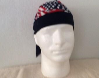 Doo Rag with American Flag,  Doo Rag, Du rag, Do Rag, Do Rags, Durag, Doorag, Motorcycle apparel, Biker Gear, Motorbike gears