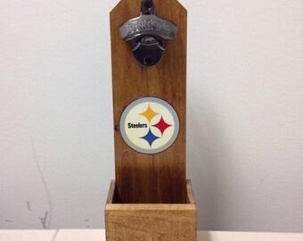 Wall Mounted Bottle Opener - Pittsburgh Steelers