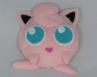 Handmade Jigglypuff feltie (Pokémon)