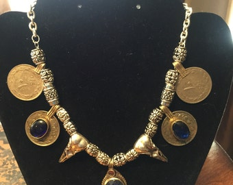Sale-Tribal steampunk necklace