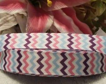"3 yards, 7/8"" chevron print design grosgrain ribbon"
