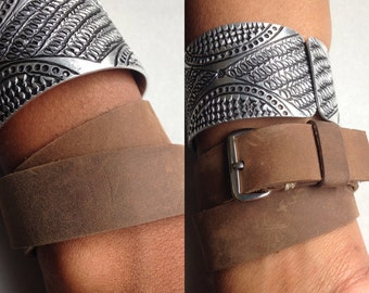 Double leather strap - double leather bracelet