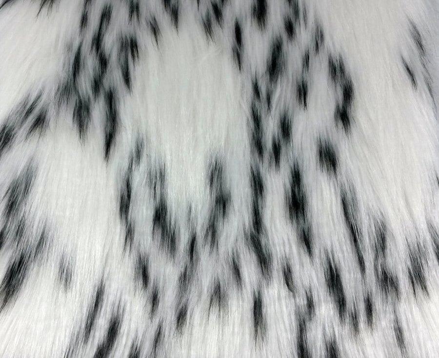 faux fur fabric ermine fabric black and white faux fur. Black Bedroom Furniture Sets. Home Design Ideas