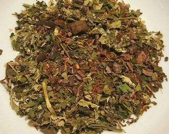 Two for the Road - Audrey Hepburn, Vanilla Rooibos Tea, Blackberry, Raspberry, Peppermint, Cacao Nibs, Organic Loose Leaf Tea, Herbal Tea