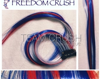 "FREEDOM CRUSH 18"" Clip In Colored Hair Extension Set - 4 PIECES!"