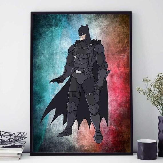 Batman Poster Batman Print The Dark Knight Poster Dc By