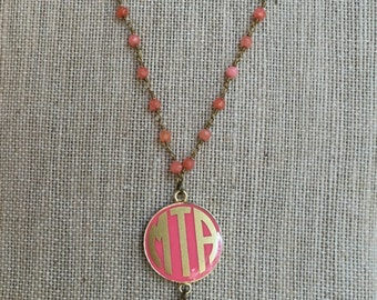 Long Monogrammed Disc Necklace