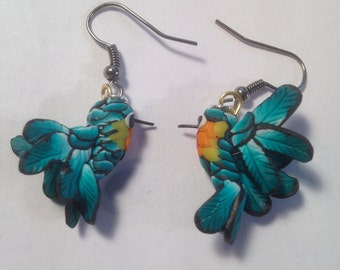 Polymer Clay Hummingbirds Earrings