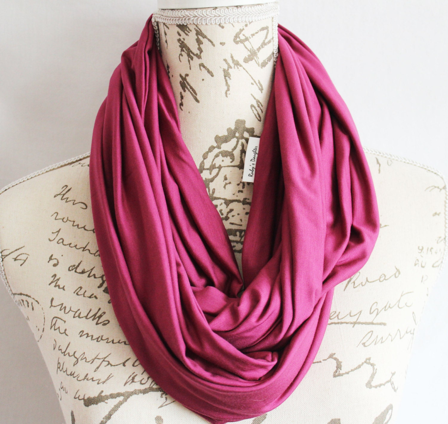 Scarf infinity travel scarf with hidden zipper pocket for Travel scarf
