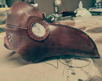 Steampunk/LARP Plague doctor leather mask