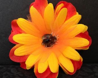 Vintage Inspired Pinup Hair Flower ~ Beetle