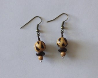 Tribal Wooden Earrings