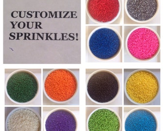 3oz - Customize Your Own Color Combination!!! - Sprinkles - Jimmies