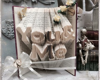 Folded book art - You and Me - book art