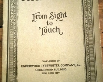 From Sight to Touch: 1912 Underwood Typewriter Company Typist Guide