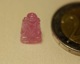 Pink Sapphire Ganesh carving