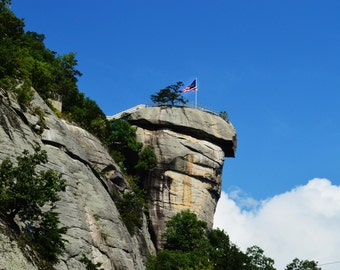 American flag waving on a cliff fine art photographic print