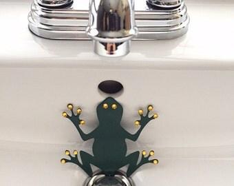 Green Tree Frog sink deocration