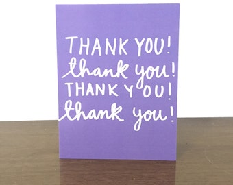 THANK YOU Card - Thanks - Thank You Greeting Card